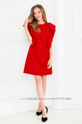 Красивое красное платье с крылышками Новинка
