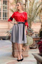 Модные юбки-клеш в клетку Новинка