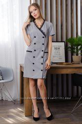 Модное платье с отделкой из кружева Новинка