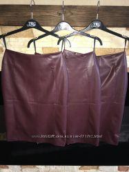 Стильная юбка-карандаш из эко кожи Новинка