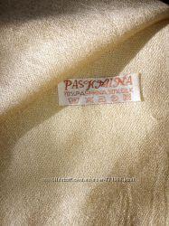 Золотисто-бежевая пашмина шелккашемир, палантин, шарф