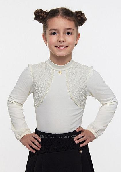 Блуза школьная для девочки 114517, Smil размер 128