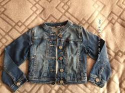 Обалденный джинсовый пиджак  IDo для девочки на рост 104см,   БУ