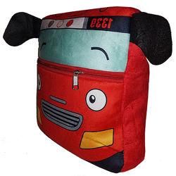 Рюкзак детский плюшевый мягкий, Красный