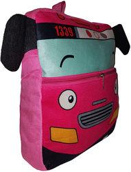 Рюкзак детский плюшевый мягкий, Розовый