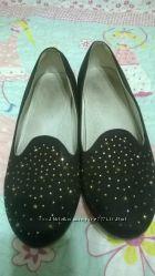 Туфли - балетки для девочки школьные, размер 35