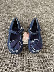 Туфли джинс mothercare 26.5 размер