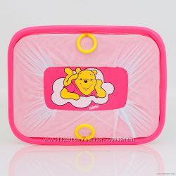 Манеж игровой Kinderbox Люкс с мелкой сеткой Винни Пух розовый