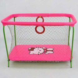 Манеж  с крупной сеткой Hello Kitty розовый