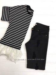 Черные джинсы-скинни, Италия, скидка