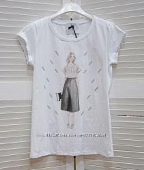 Женская белая футболка с ярким принтом в виде иллюстраций, Италия, скидка