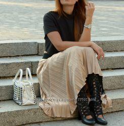 Женские кожаные сапоги на шнуровке, Италия