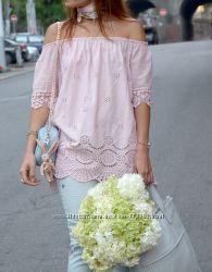 Нежная и женственная розовая блуза с рукавом реглан, Италия