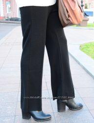 Укороченные прямые брюки из плотного трикотажа, Италия, скидка