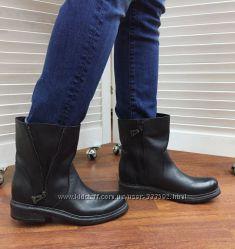 0fe0088028db Женские черные кожаные ботинки в байкерском стиле , Италия, скидка ...