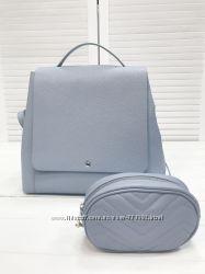 Стильный кожаный рюкзак, Италия, сидка