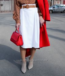 Коттоновая юбка миди с запАхом, Италия