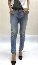 Женские модные зауженные джинсы голубого цвета, Италия