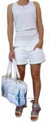 Женские белые джинсовые шорты, Pepe Jeans, Италия, Скидка