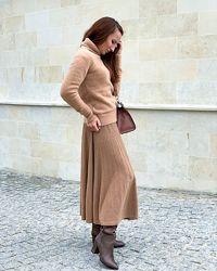 Модная трикотажная юбка на резинке, Италия