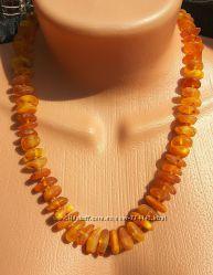 Красивое янтарное ожерелье, бусы из янтаря
