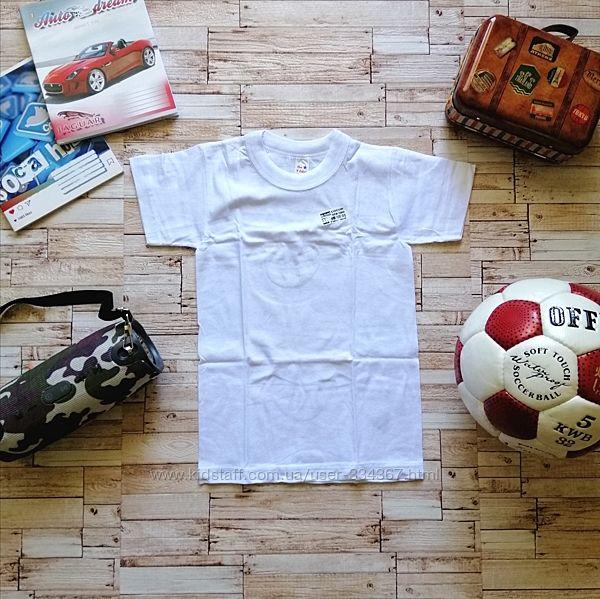 Белая футболка для мальчика р.7-8 лет. Турция