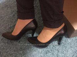 Туфли женские черные, кожа натуральная