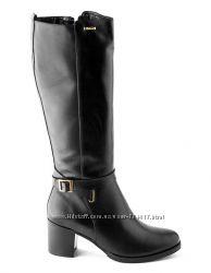 d4c024d7b7a4 Зимние кожаные сапоги на удобном каблуке BALDACCINI, Польша, 2695 ...