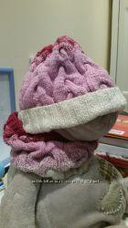 Комплект шапка и снуд ручная вязка