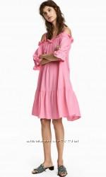 Платье розовое яркое H&M p. 36-38