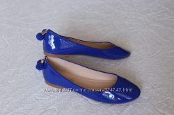 Синие туфли, балетки 35, 36 размера