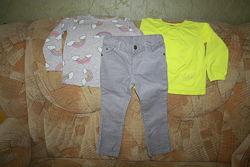 Регланы H&M, Gymboree и джинсы Carters, 2-4 года