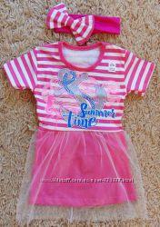 Нарядное летнее платье с повязочкой. В наличии