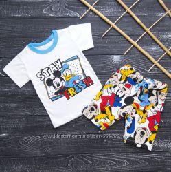 Летний комплект для мальчика Дисней футболка и шорты. Хлопок