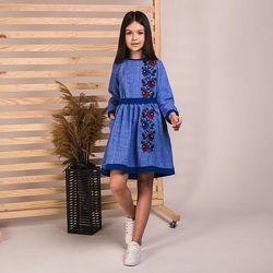 Нарядное платье-вышиванка для девочки. Много размеров
