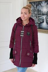 Демисезонная женская куртка-трансформер с довязом. Много расцветок