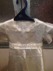 Платье белое снежинки 3 - 4 года 104 см.