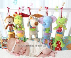 Подвеска игрушка  музыкальная для малышей HAPPY MONKEY
