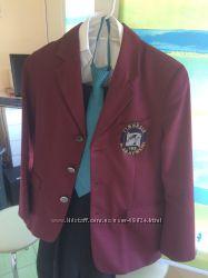 Школьная форма пиджак бордовый