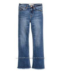Новые джинсы- H&M - прямые с высокой посадкой