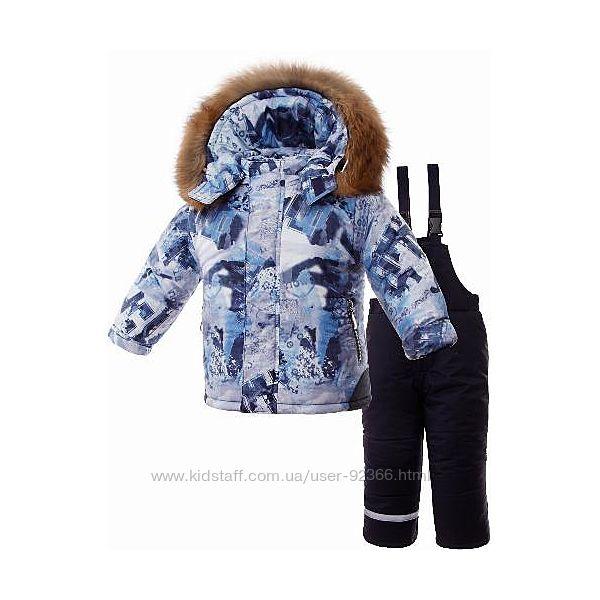 NEWS PILGUNI 2020 Костюм зимний для мальчика с натуральной опушкой енота