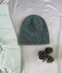 Стильная шапочка-бини из пуха норки