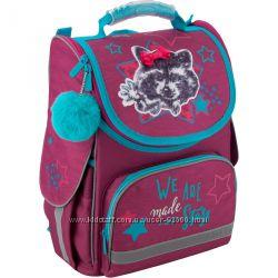 Рюкзак каркасный школьный Kite Fluffy racoon K19-501S-3