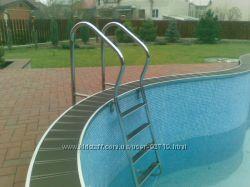Лестницы, поручни для бассейнов. Kripsol, Emaux.