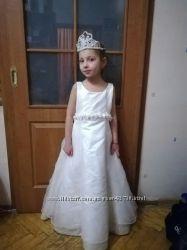 Карнавальные костюмы  Снежинка  Фея Снежная Королева Персиковое платье