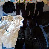 Школьная форма  черного цвета и рубашки