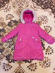 Пальто зимние для девочки Lenne