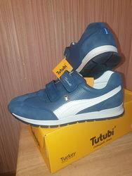 Продам стильные кожаные кроссовки для мальчика, ТМ Tutubi