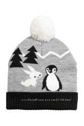 Оригинальные шапки  на девочек  фирмы H&M   размер 110-128