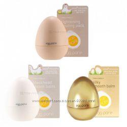 Яйца TONY MOLY Egg Pore Blackhead Out Oil Gel и Egg Pore Tightening Pack